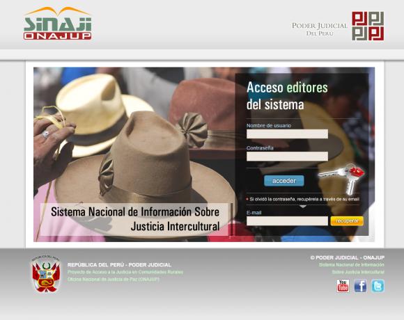 SINAJI. Estado peruano
